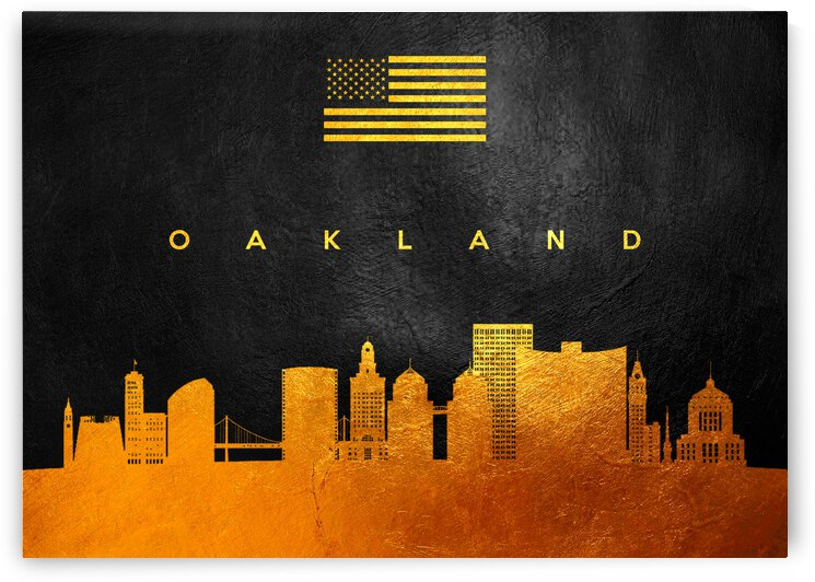 oakland california gold skyline by ABConcepts