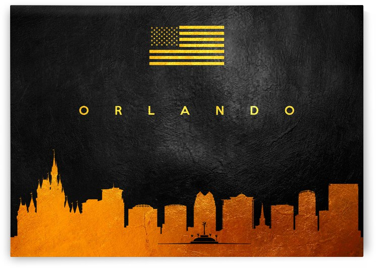orlando florida gold skyline 2 by ABConcepts