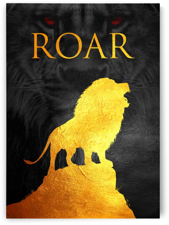 lion roar Motivational Wall Art by ABConcepts