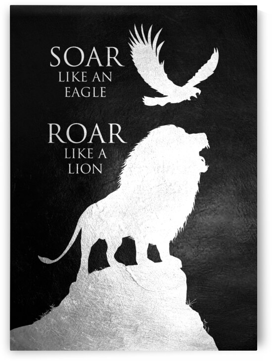 lion and eagle Motivational Wall Art by ABConcepts