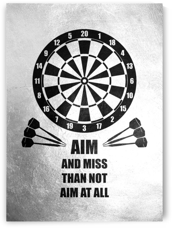 darts aim and miss Motivational Wall Art by ABConcepts