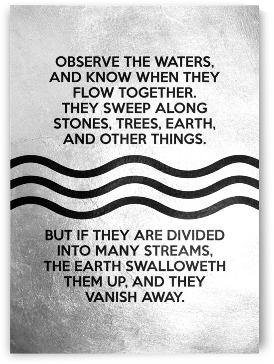 observe the waters Zebulun Motivational Wall Art by ABConcepts