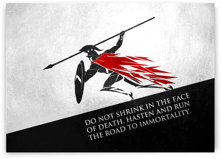 run the road to immortality Motivational Wall Art by ABConcepts