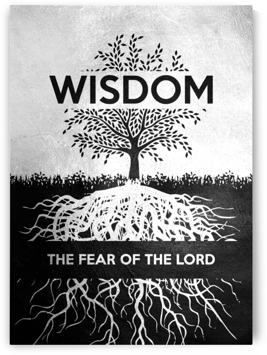 fear of God wisdom Motivational Wall Art by ABConcepts