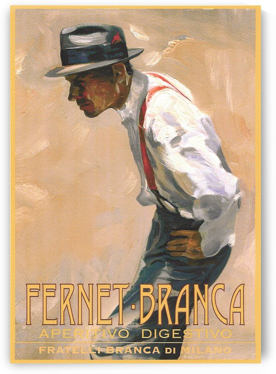Fernet Branca Aperitivo Digestivo Poster by VINTAGE POSTER