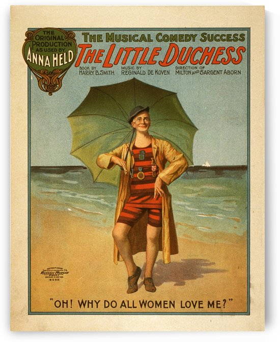 Vintage Poster The Little Duchess mucical comedy poster 1906 by VINTAGE POSTER