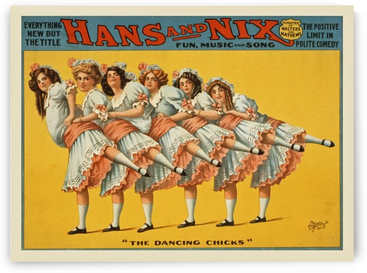 Vintage Polite Comedy Poster by Dawn Hudson by VINTAGE POSTER