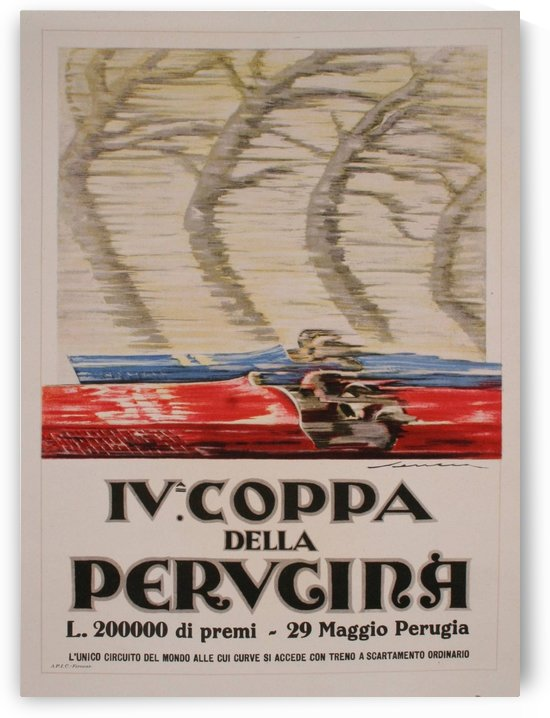 Italian Art Deco Period Race Car Poster by Federico Seneca, 1927 by VINTAGE POSTER
