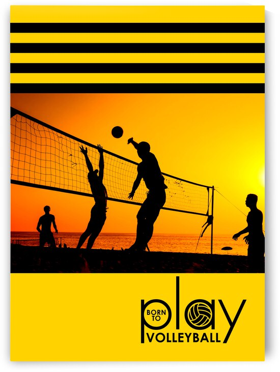 born to play volleyball by ABConcepts