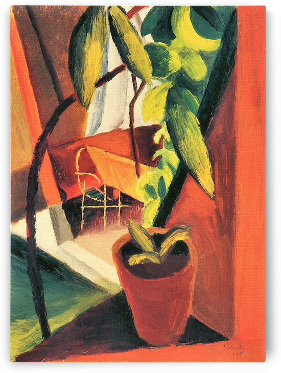A look into summer-house by August Macke by August Macke