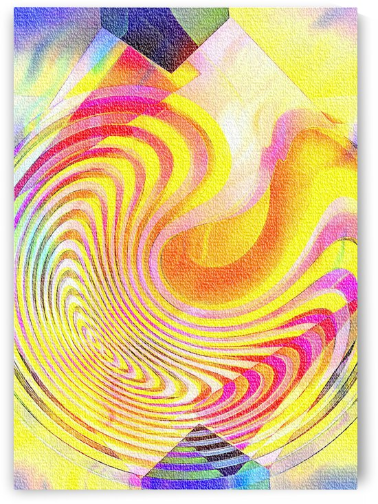 Multicolored Experimental Headache 21 by Dorothy Berry-Lound
