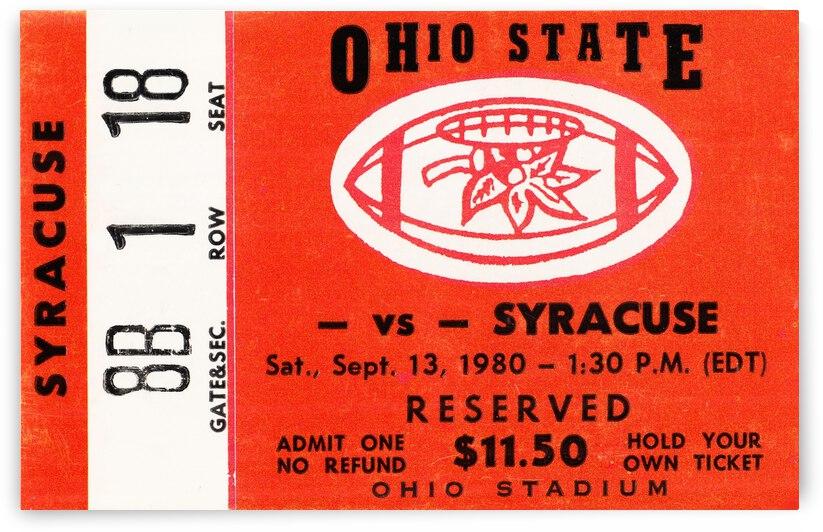1980 Syracuse Orangemen vs. Ohio State Buckeyes by Row One Brand