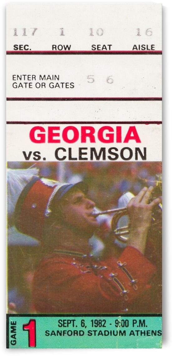 1982 Georgia Bulldogs vs. Clemson Tigers by Row One Brand