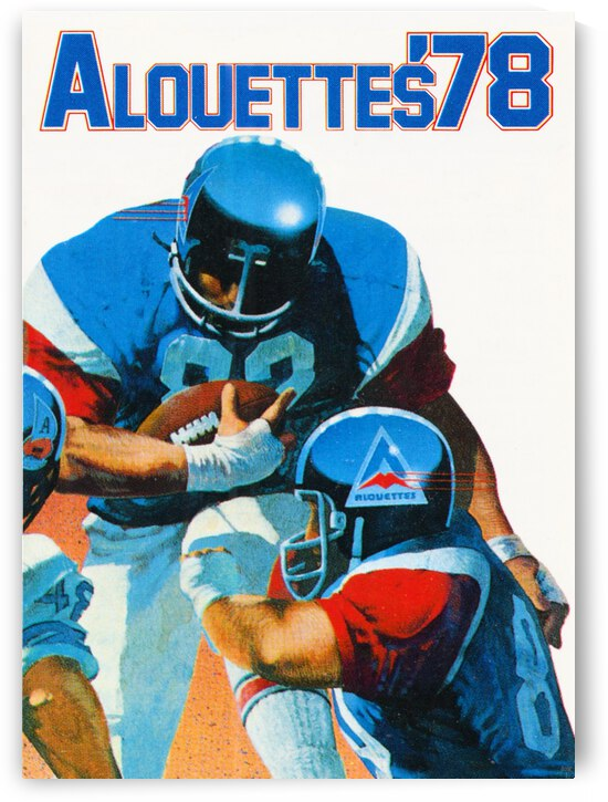1978 Montreal Alouettes Football Art by Row One Brand