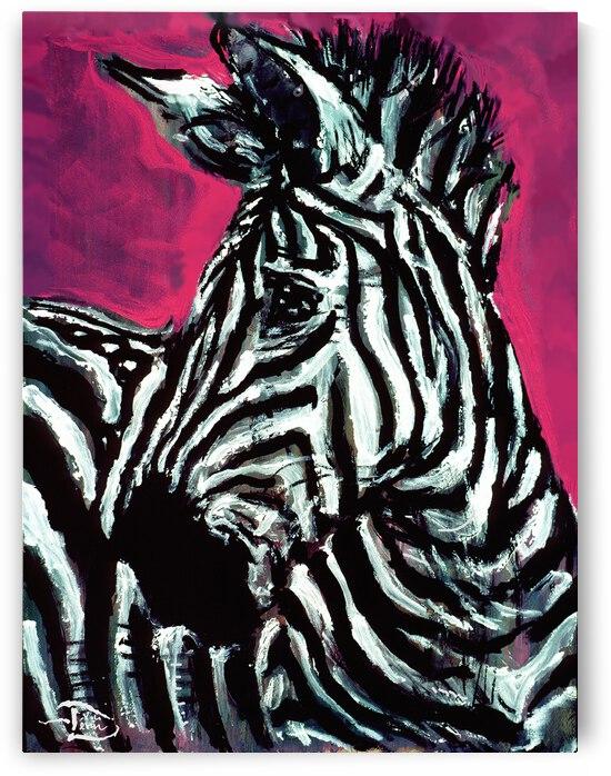 Abrica-Zebra Bookend Left by Lowell Phoenix Devin