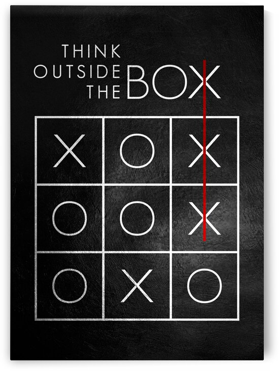 think outside the box Motivational Wall Art by ABConcepts