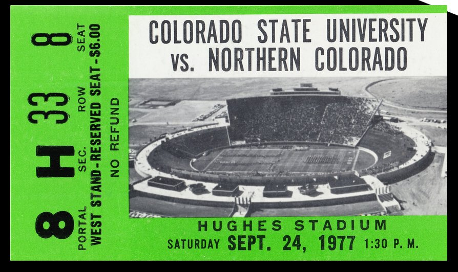 1977 Colorado State Rams vs. Northern Colorado by Row One Brand