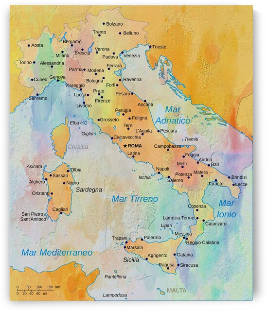 Map of Italy by Dorothy Berry-Lound