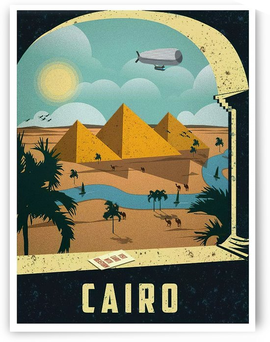 Cairo Vintage Travel Poster by VINTAGE POSTER