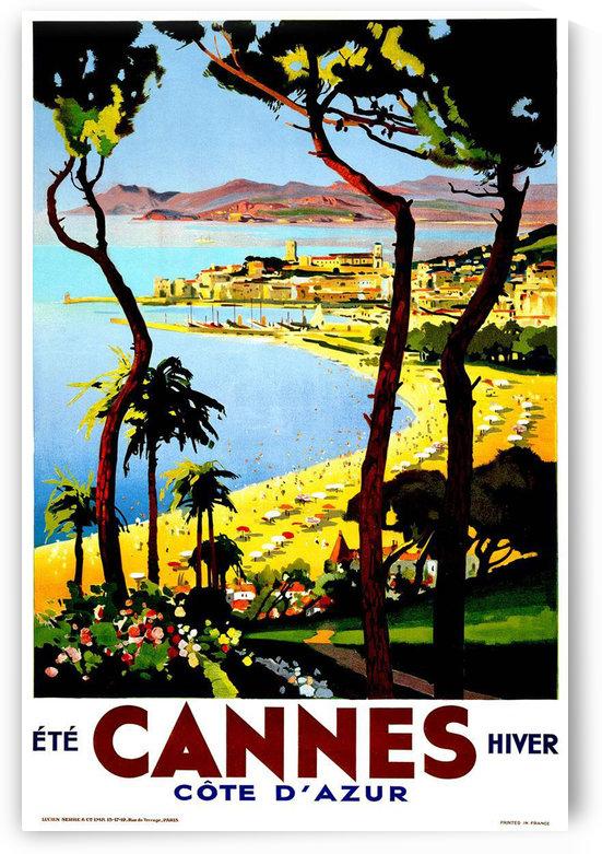 Cannes - France Vintage Travel Poster by VINTAGE POSTER