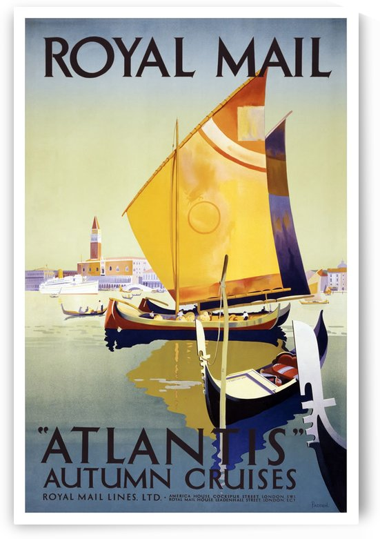 Royal Mail Atlantis Autumn Cruises vintage travel poster by VINTAGE POSTER