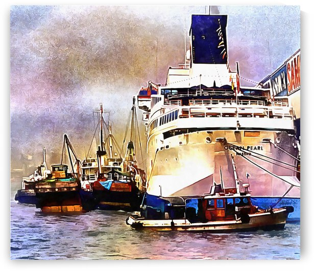 Boats in Hong Kong by Dorothy Berry-Lound