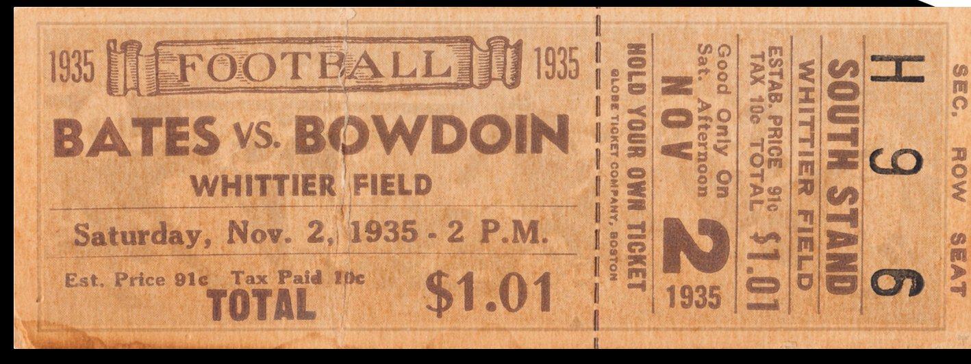 1935 Bates Bobcats vs. Bowdoin Polar Bears by Row One Brand