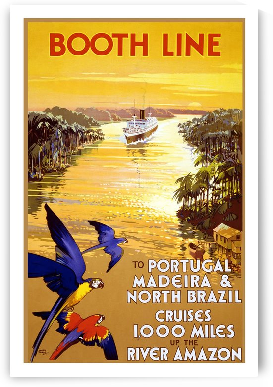 Booth Line vintage travel poster by VINTAGE POSTER