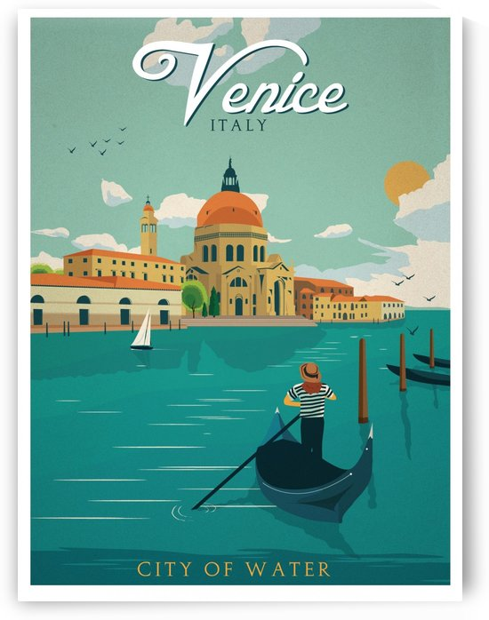 Venice Vintage Travel Poster by VINTAGE POSTER