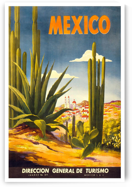 Mexico vintage travel poster by VINTAGE POSTER
