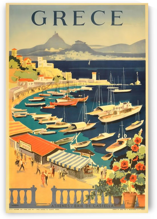 Greece original vintage travel poster by VINTAGE POSTER