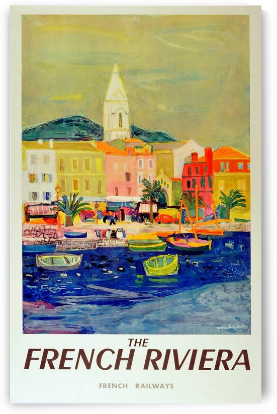 The French Riviera, French Railways original vintage travel advertising poster by VINTAGE POSTER