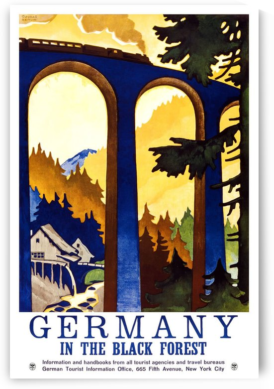 Germany Vintage Travel Poster by VINTAGE POSTER