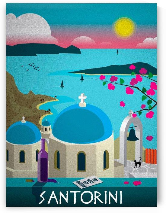 Santorini vintage travel poster by VINTAGE POSTER