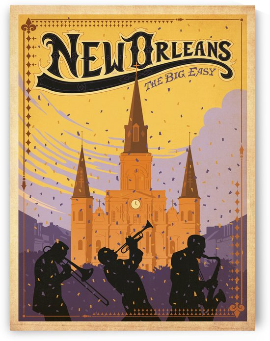 New Orleans American travel poster by VINTAGE POSTER