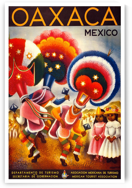 Oaxaca Mexico vintage travel poster by VINTAGE POSTER
