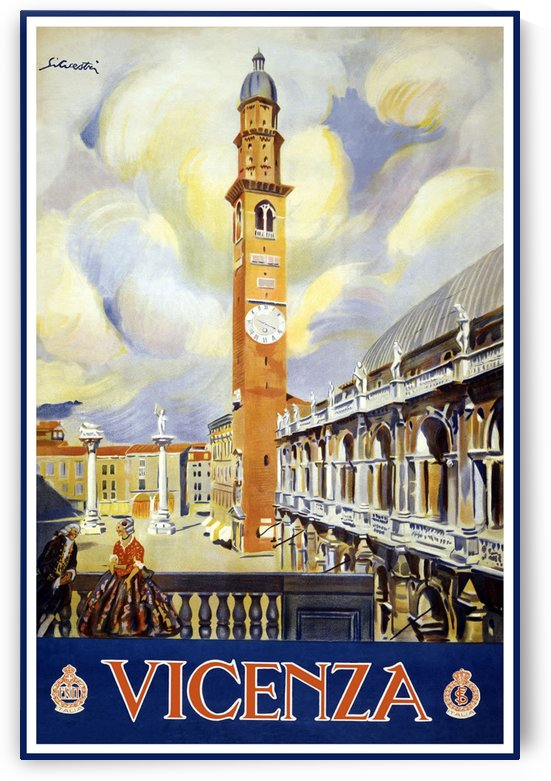 Vicenza vintage travel poster by VINTAGE POSTER