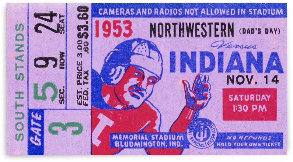 1953 Indiana Hoosiers vs. Northwestern Wildcats by Row One Brand