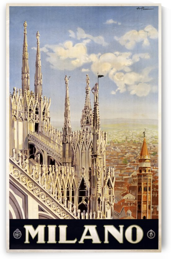 Milano travel poster by VINTAGE POSTER