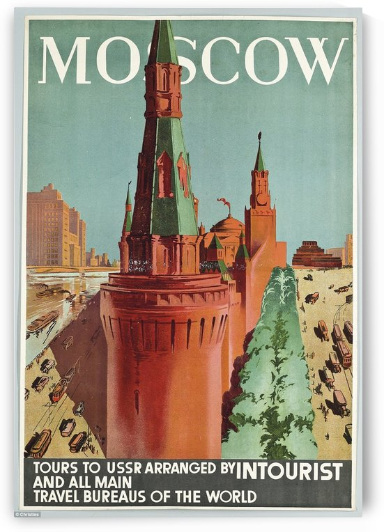 Moscow Vintage Travel Poster by VINTAGE POSTER