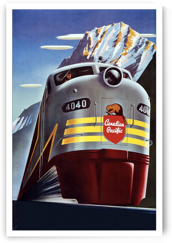 Canadian Pacific vintage travel poster by VINTAGE POSTER