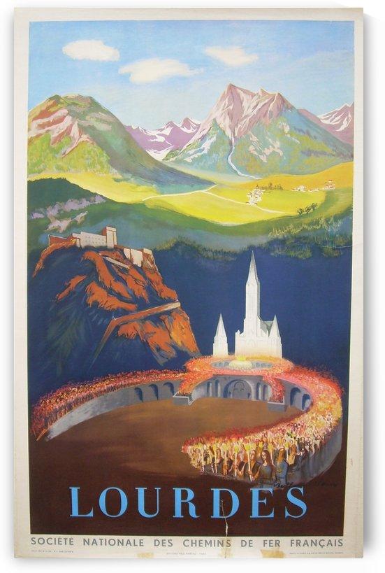 Lourdes Vintage Travel Poster by VINTAGE POSTER