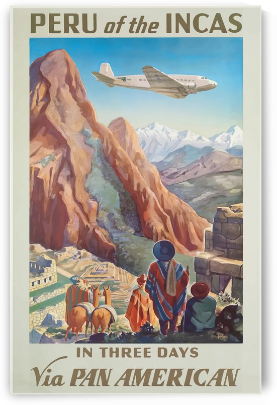Peru of the Incas Vintage Travel Poster by VINTAGE POSTER
