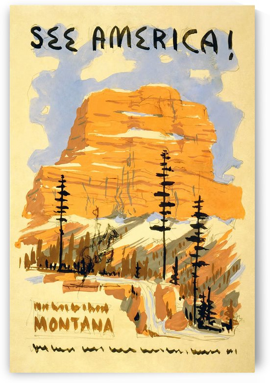 See America vintage travel poster by VINTAGE POSTER