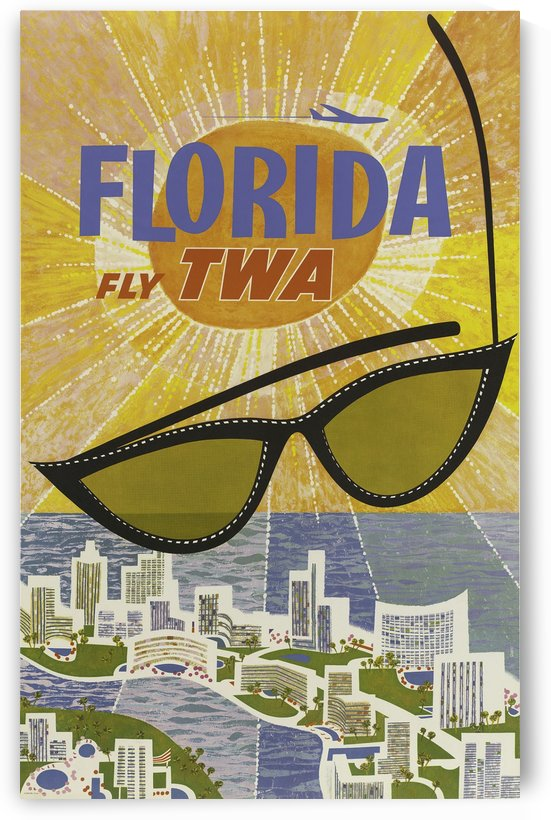 David Klein, Florida, Travel poster vintage by VINTAGE POSTER