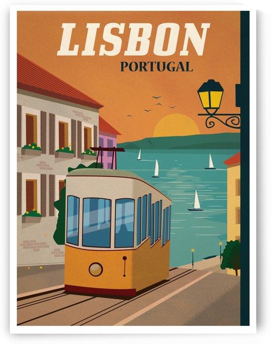 Vintage Lisbon travel poster by VINTAGE POSTER