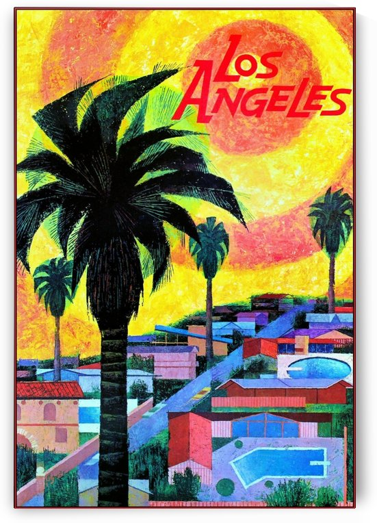 Vintage Los Angeles Travel Poster by VINTAGE POSTER