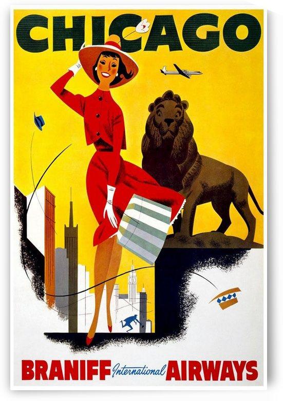 Chicago Braniff International Airways travel poster by VINTAGE POSTER
