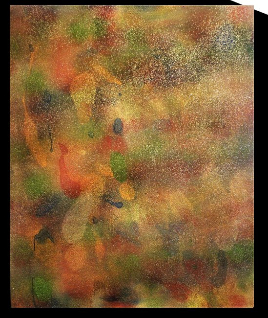 Golden Color Abstract by Derica Geter
