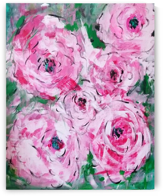 Roses Crop by Ann Davis Art